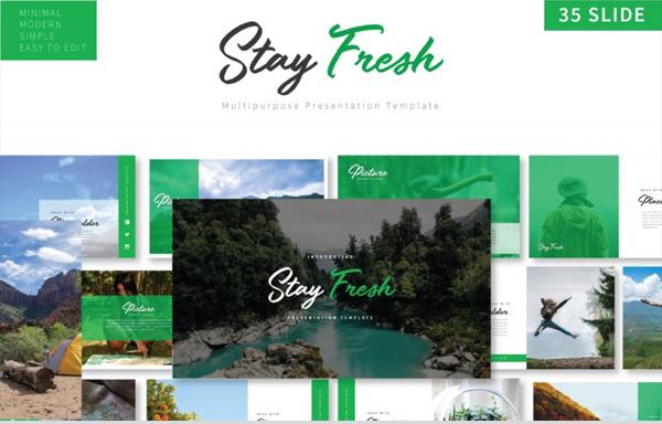 Stay Fresh Minimal Keynote Template