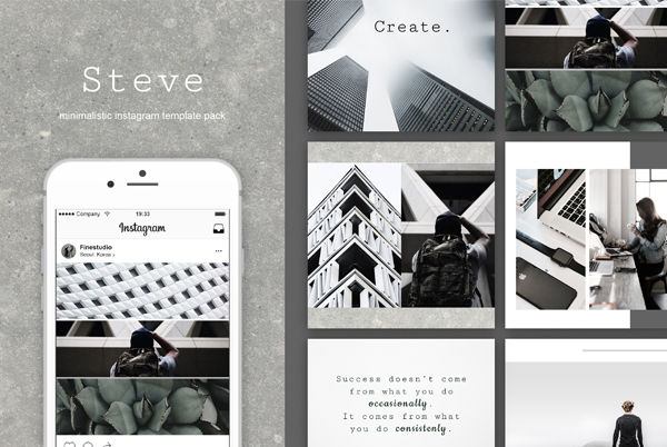 Steve Instagram Banner Templates
