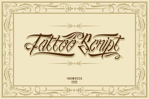 Tattoo Script Lettering Fonts
