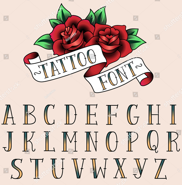 Tattoo Style letters Font