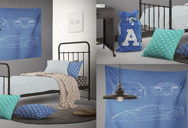 Teenager Bed Mock-up Designs