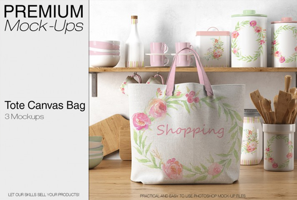 Tote Canvas Bag Mockups