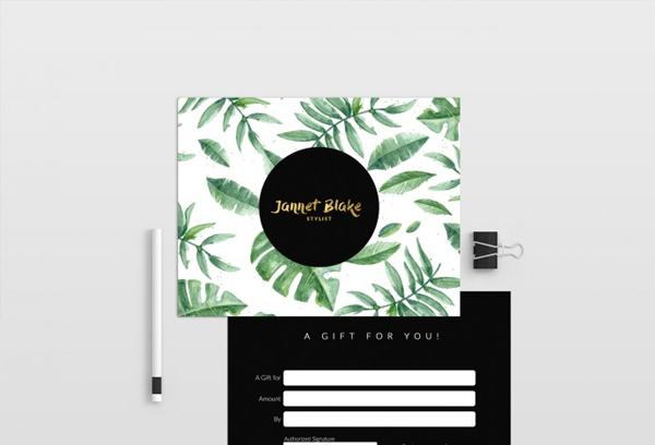 Tropical Graduation Gift Certificate Template