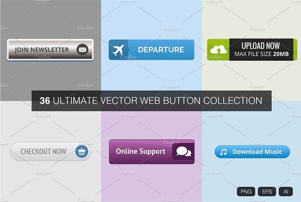 Ultimate Vector Web Buttons