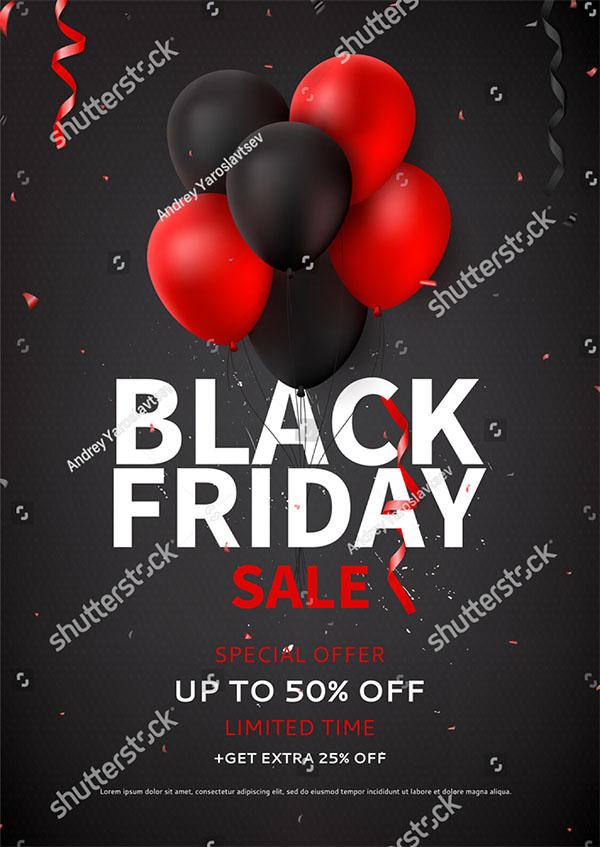 Vector Black Friday Sale Flyer Template