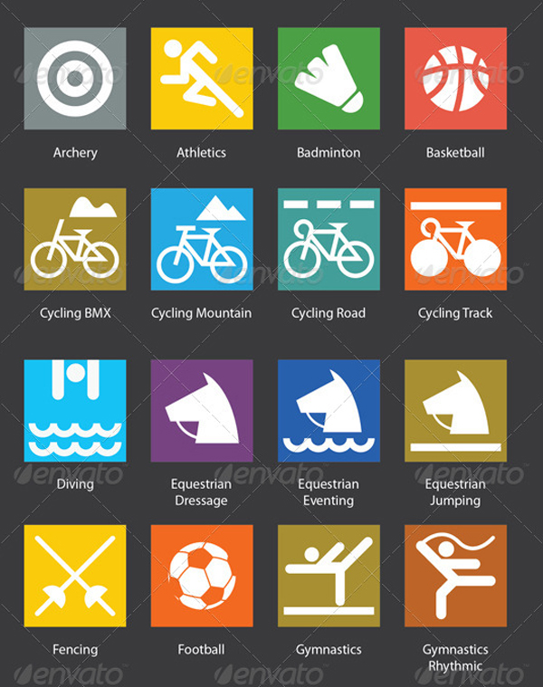 High Quality Vector Sport Icons