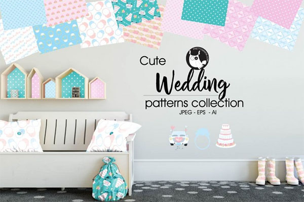 Wedding Patterns Collection, Digital Papers