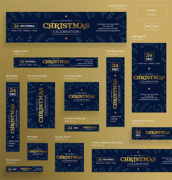 Winter Web Banner Design Templates