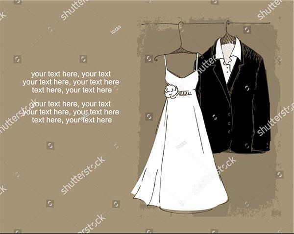 Lace Vector Wedding Dress