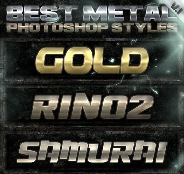 10 Metal Photoshop Styles