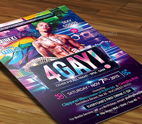 Gay Poster and Flyer Template