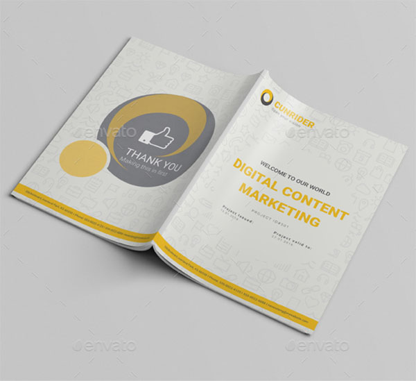 A4 Content Marketing Brochure Template