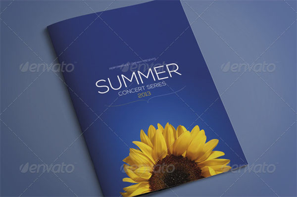 A4 Events Brochure Template