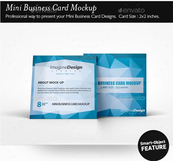 Abstract Mini Business Card Mockup
