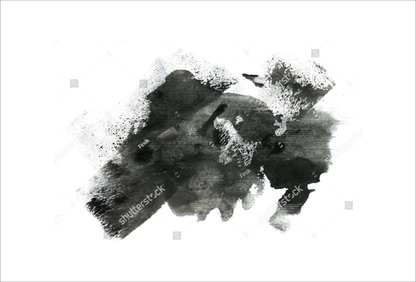 Abstract Water Brush Ink