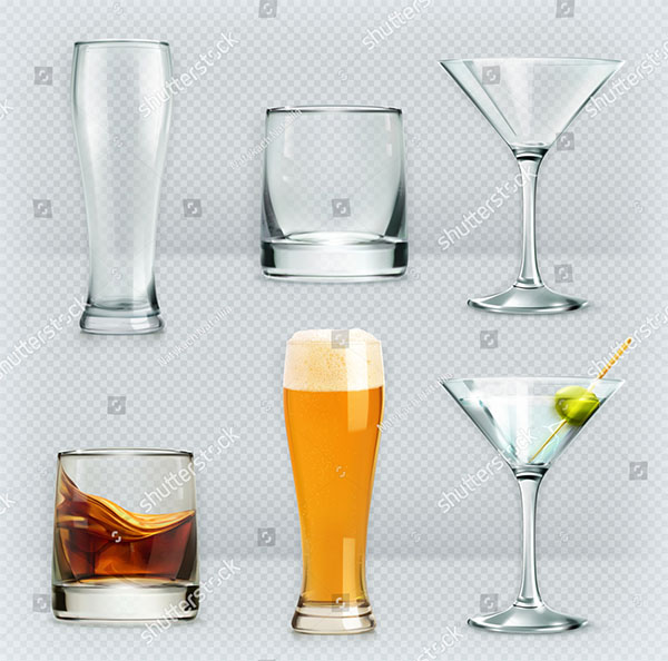Alcohol Drink Vector Set