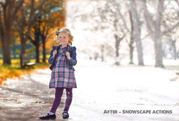Amazing Photoshop Snow Actions
