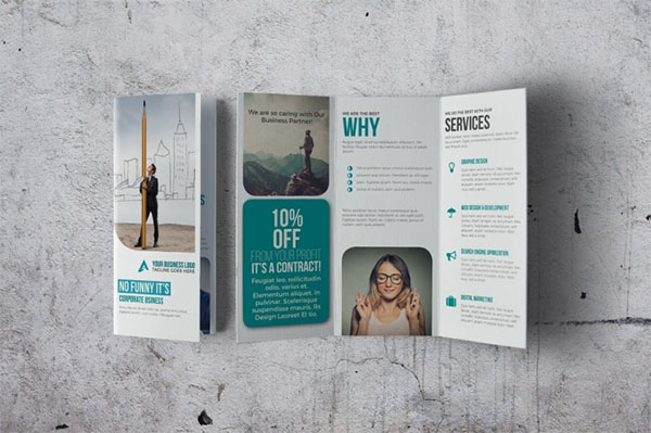 Amazing Trifold Brochure InDesign Templates