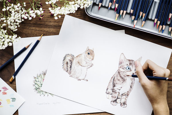Free PSD Animals Workspace Concept