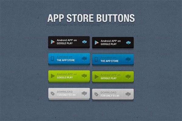 App Store Chunky Buttons