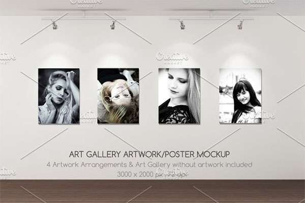 Art Gallery Artwork Mockup