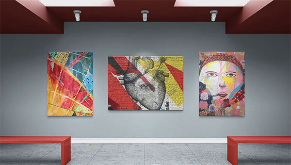 Art Gallery Mockup Templates