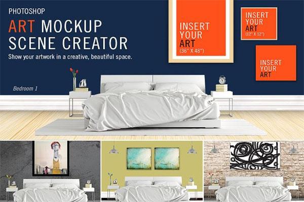 Art Mockup Scene Creator Design Template