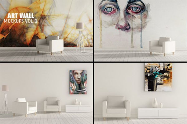 Art Wall Mock-up Design Template