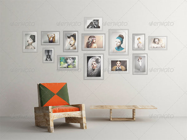 Art Wall Mock-up Designs