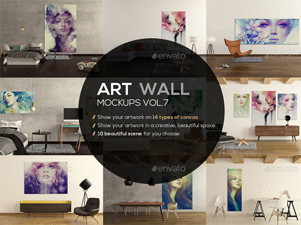 Art Wall Mockup Template
