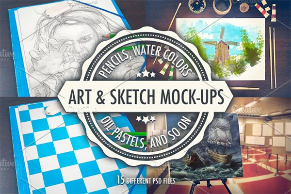 Art and Sketch Mockup Collection