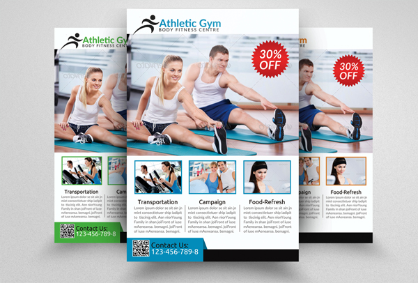 Athletic Fitness Gym Flyer