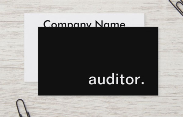 Auditor Business Card Template Design