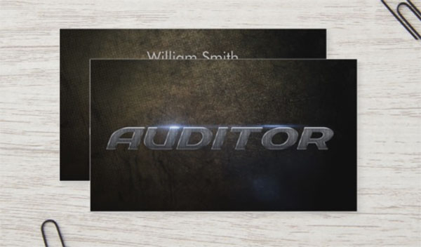 Auditor Design Business Card Template