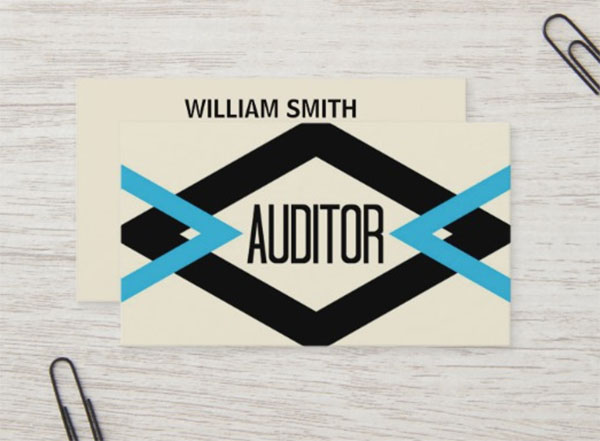 Auditor Trendy Business Card Template