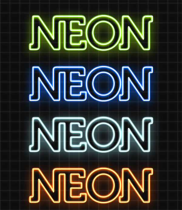 Awesome Photoshop Neon Styles