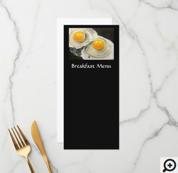 Breakfast Menu Rack Card