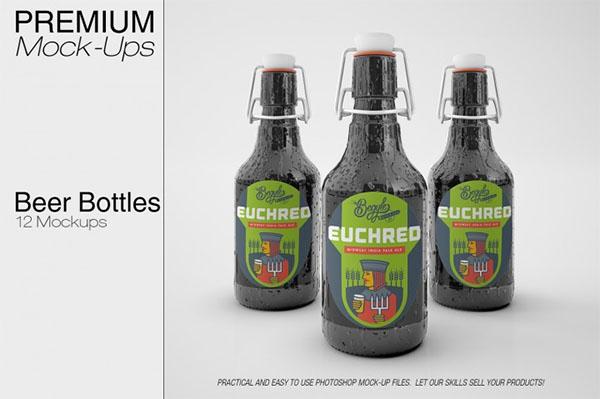 Beer Bottle Mockup Set