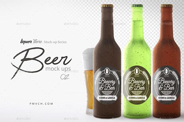 PSD Beer Bottle Mockup Templates