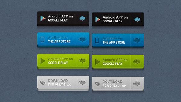 Best PSD App Buttons