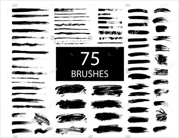 Black Ink Brushes Templates