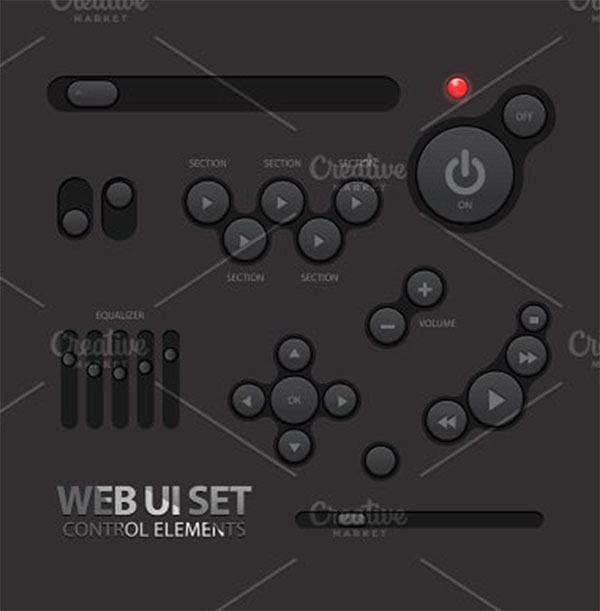 Black Web UI Elements