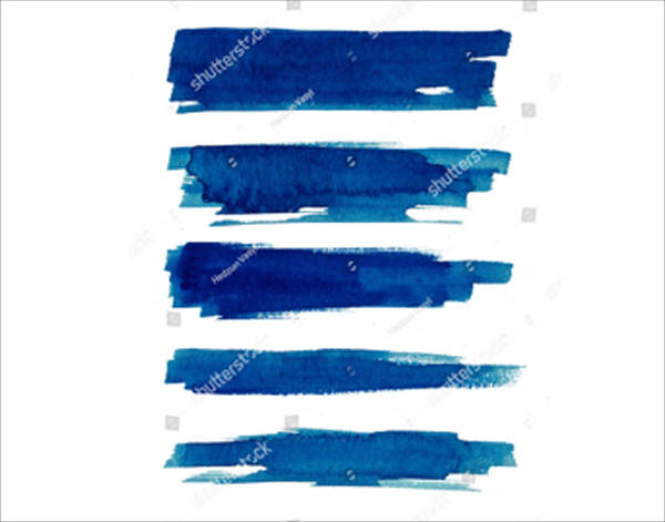 Blue Abstract Ink Watercolor Brushes