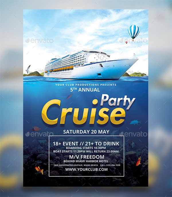 Boat Cruise Flyer Template