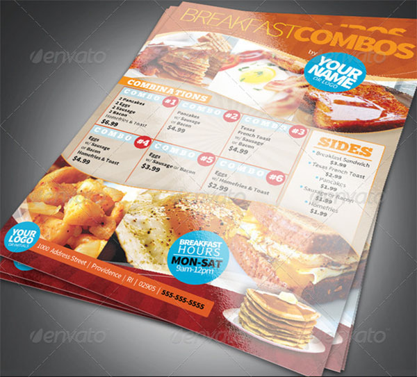 Breakfast Menu Photoshop Template