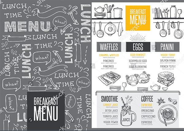 Breakfast Menu Placement Template
