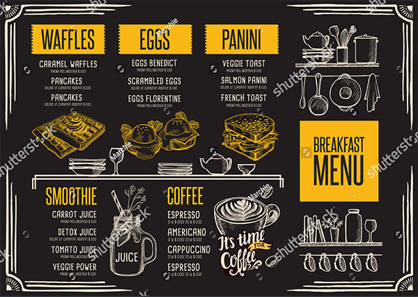 Breakfast Menu Vector Template