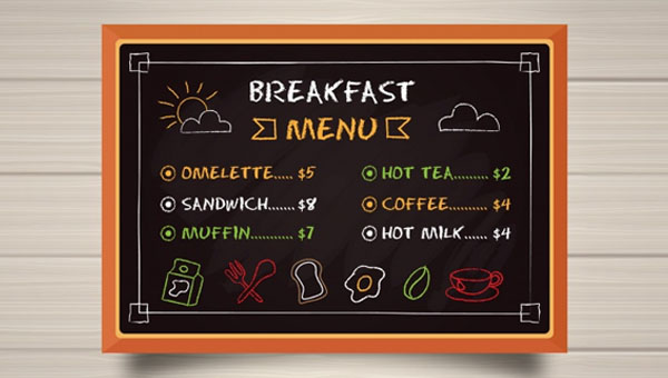 Breakfast Menu Templates