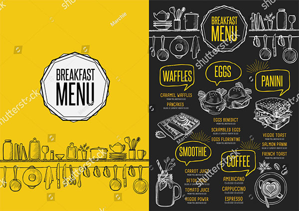 Breakfast PSD Menu Template