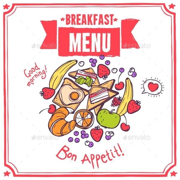 Breakfast Sketch Menu Template